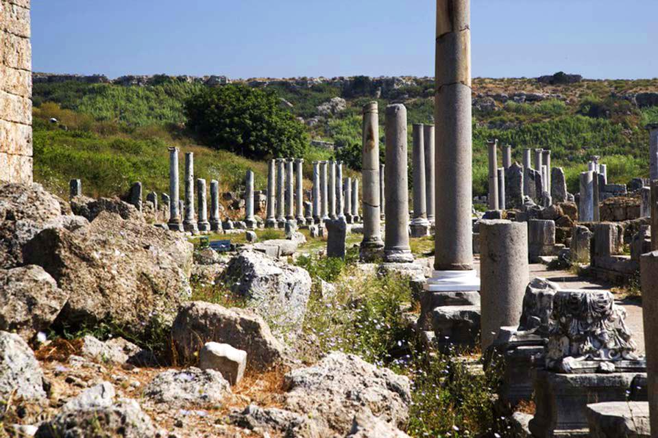Ephèse et les sites archéologiques de l'Egée , Les colonnes d'Ephèse , Turquie