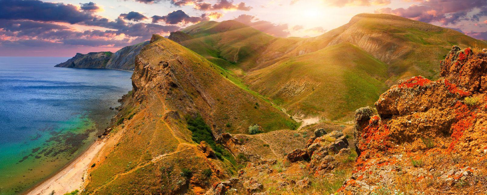 I monti di Crimea , Le montagne della Crimea , Ucraina