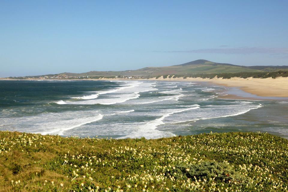 La costa dell'Oceano Indiano , Le spiagge di Eastern Cape , Sudafrica