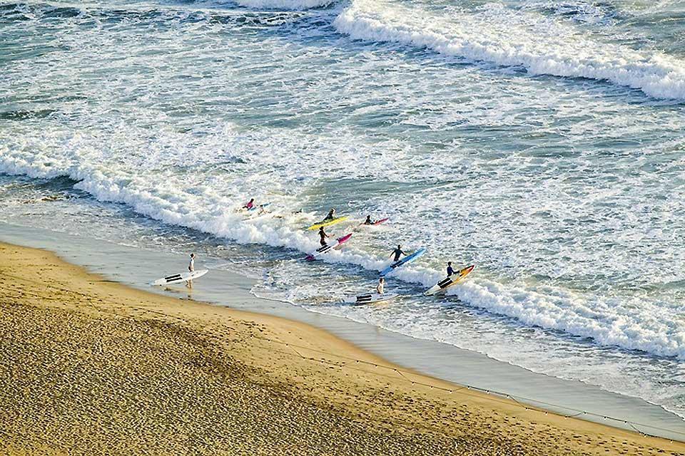 La costa dell'Oceano Indiano , South Beach , Sudafrica