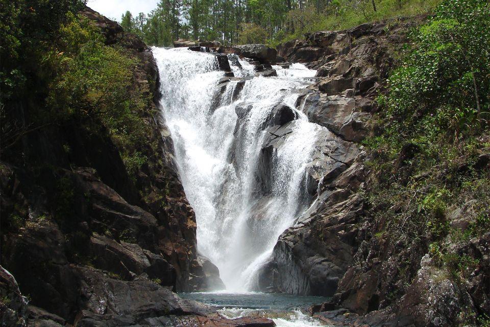 Les paysages, amérique centrale amérique bélize réserve Mountain Pine Ridge forêt Big rock falls, parc cascade rivière.