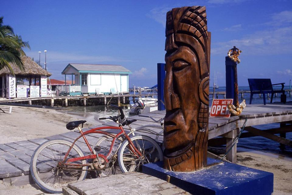 Caye Caulker , L'île corallienne de Caulker au Bélize , Belize