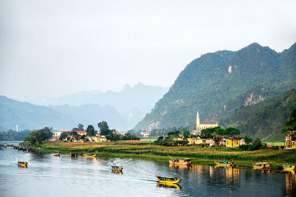 La cordillera de Truong Son en el Norte , Vietnam