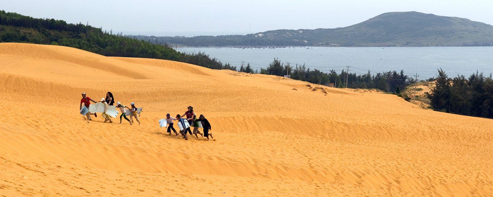 Les côtes de l'Annam , Les dunes de sable d'Hué , Vietnam