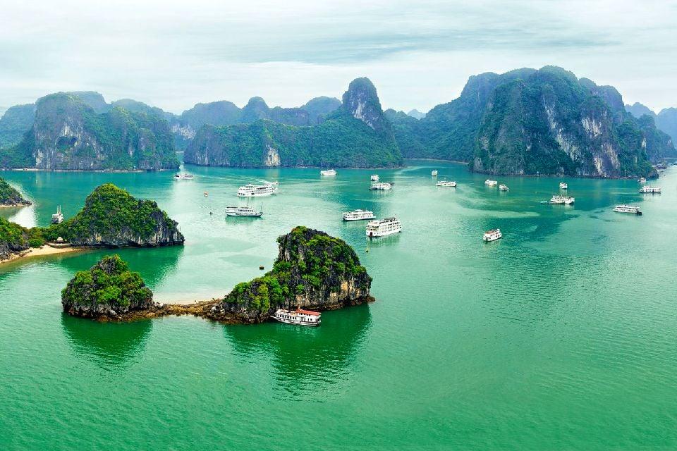 El litoral de Norte a Sur , Paisajes de las costas , Vietnam