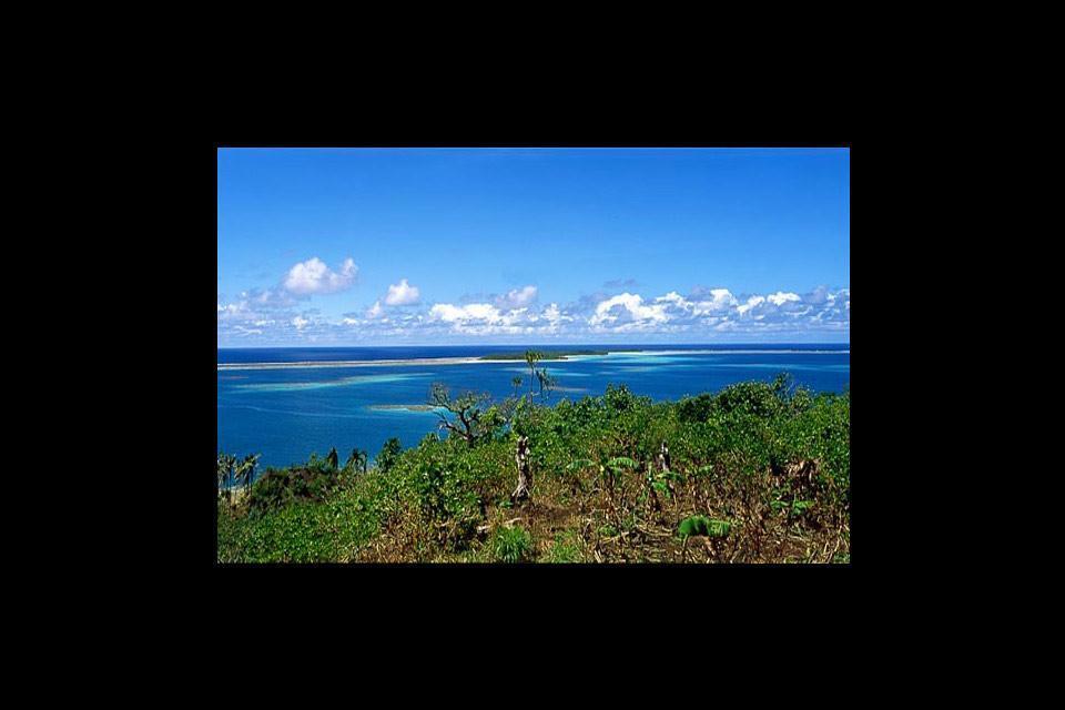 Die Küstenstraße von Wallis , Wallis und Futuna