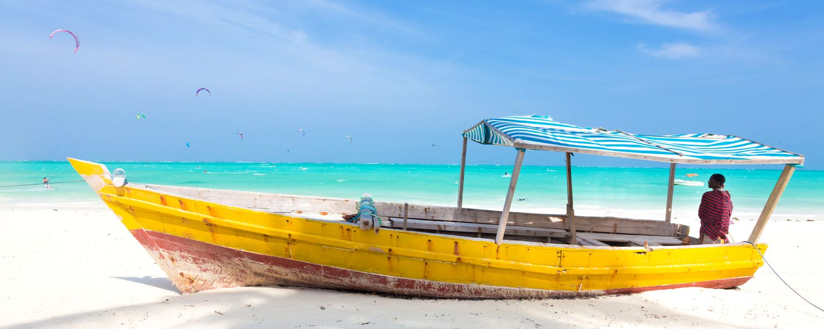 Dhow on Nungwi Beach, The north-west coast, Coasts, Zanzibar