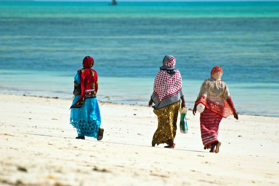 La plage de Jambiani , Le village de Jambiani , Tanzanie