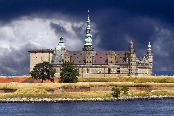 Le Sjaelland , Le château de Kronborg à Seeland , Danemark
