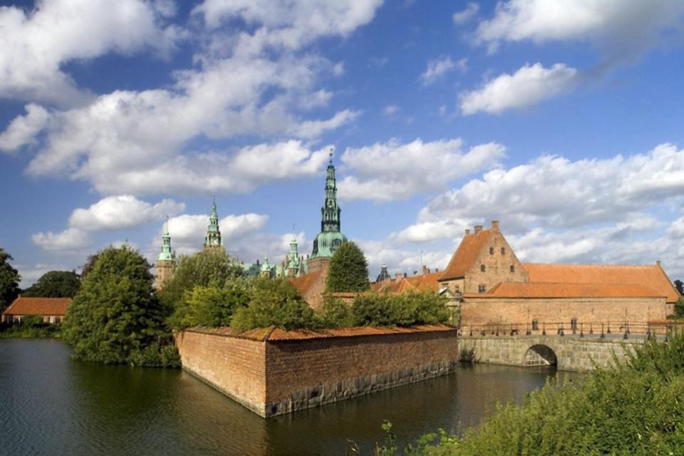 Lo Sjaelland , Il castello di Frederiksborg a Hillerød , Danimarca