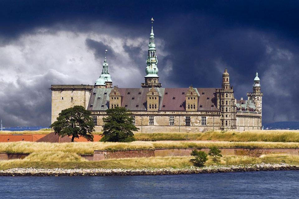 Lo Sjaelland , Il castello di Kronborg a Seeland , Danimarca