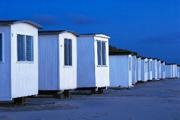 La península de Jutlandia , Casas de arena en el norte de Dinamarca , Dinamarca