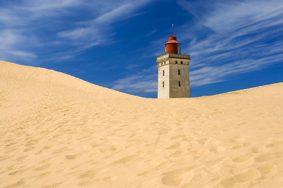 La penisola dello Jutland , Rubjerg Knude nello Jutland , Danimarca