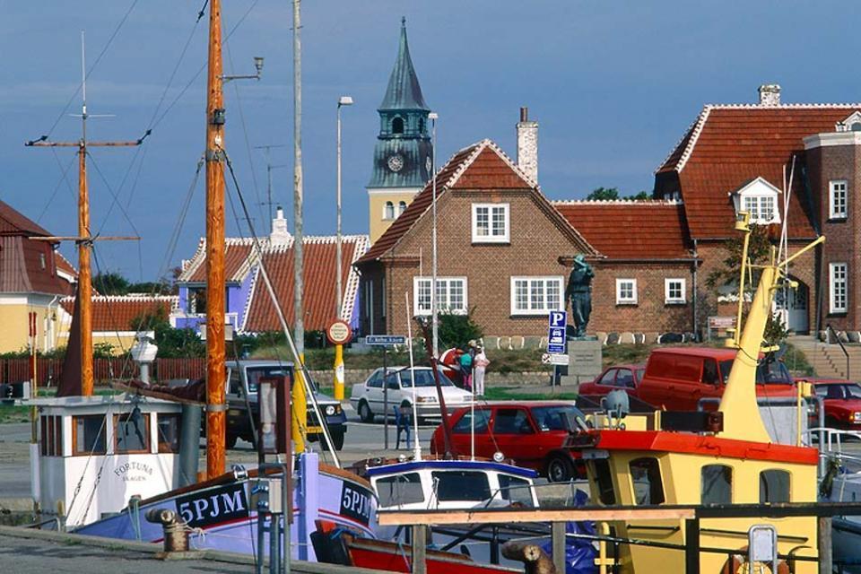 La penisola dello Jutland , Porto di Skagen a nord della Danimarca , Danimarca