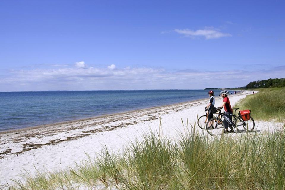La isla de Fionia , La playa de Fionia , Dinamarca