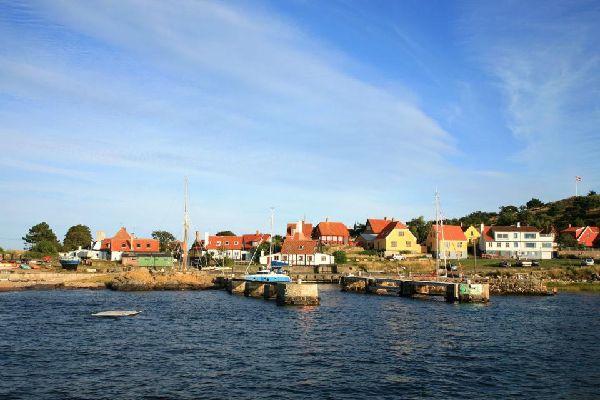 La isla de Bornholm , La costa de la isla Bornholm , Dinamarca