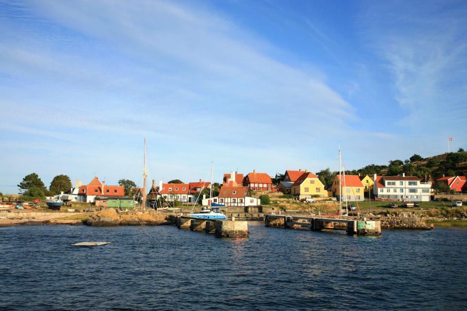L'isola di Bornholm , La costa dell'isola di Bornholm , Danimarca