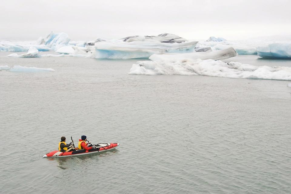 Water activities , Sea-kayaking in Iceland , Iceland