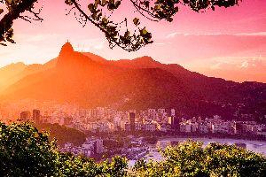 Le Corcovado à Rio , La montagne du Corcovado , Brésil