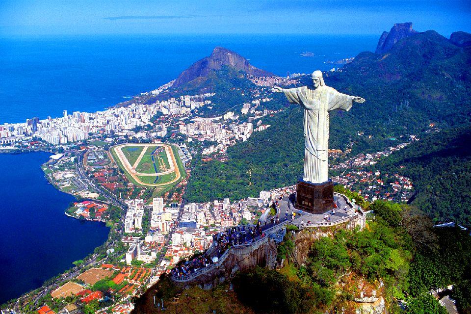 Corcovado's Hill View of Rio de Janeiro, Brazil
