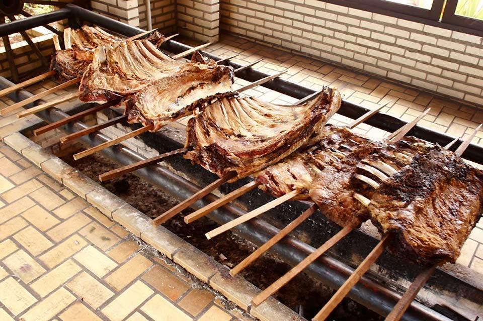 Las churrasquerías , Carne al espeto , Brasil