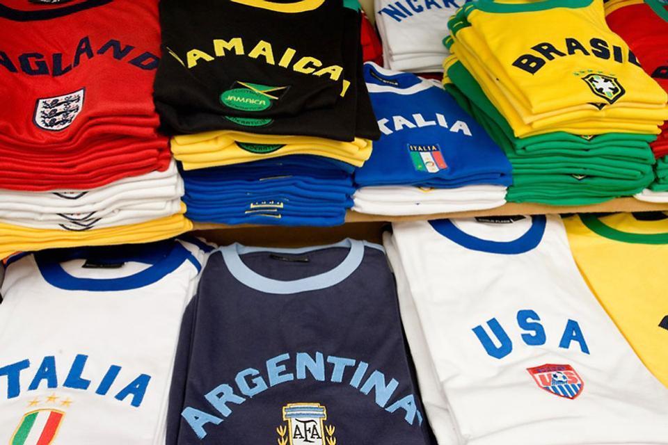I quadri contemporanei , Le maglie da calcio , Brasile