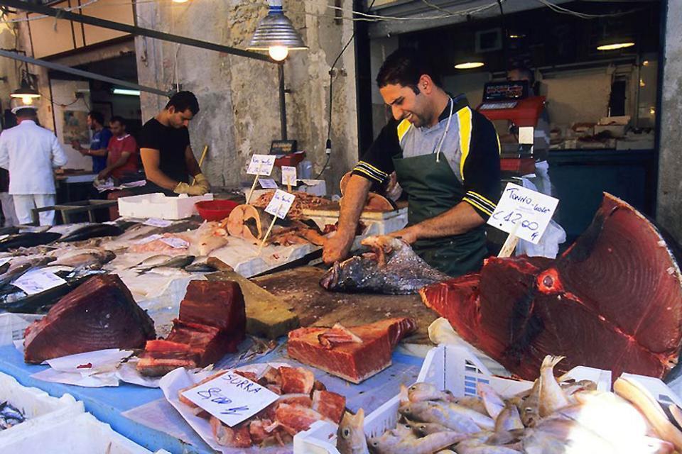 Die Märkte , Die Fischmärkte, Sizilien , Italien