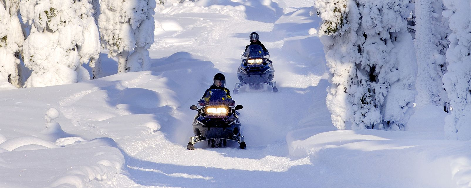 Schneemobil-Safari , Ein Gefühl der Freiheit , Finnland