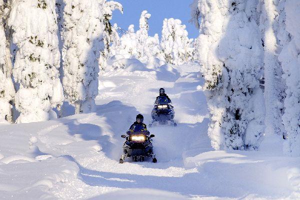 Safari in motoneve , Sensazione di libertà , Finlandia