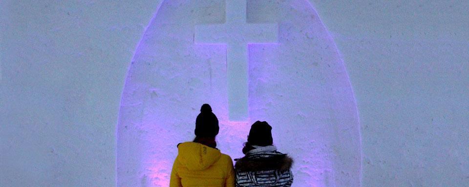 El castillo de nieve finlandia for Construcciones efimeras