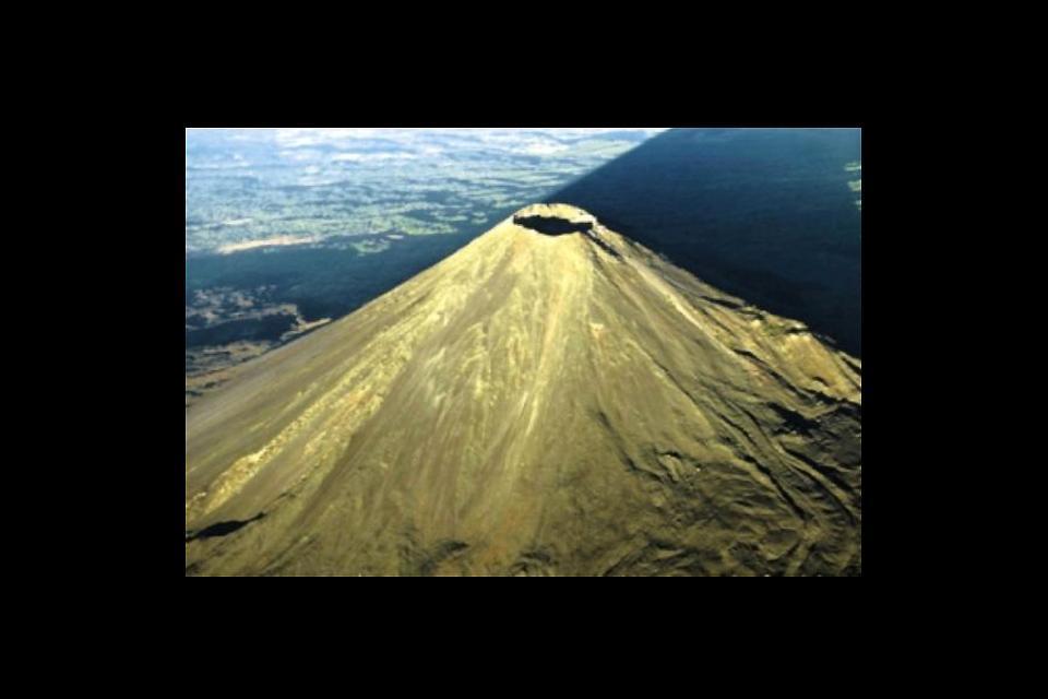 Izalco village and volcano , Salvador