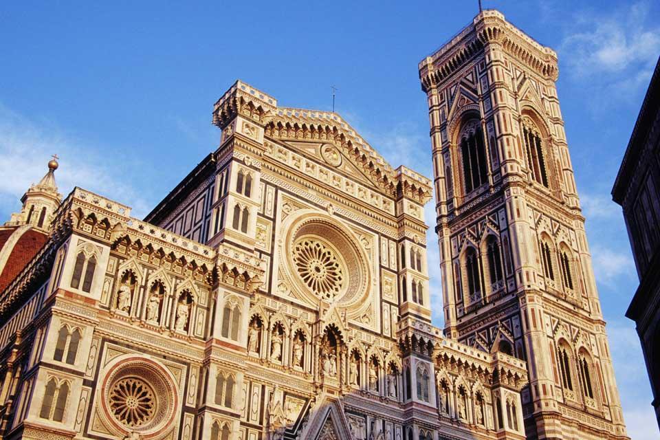 Le marbre de Carrare , La Duomo de Florence et son campanile , Italie