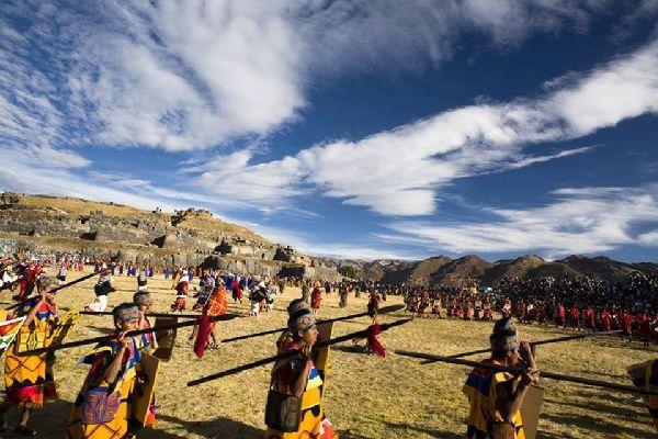 Inti Raymi in Sacsayhuaman , Peru
