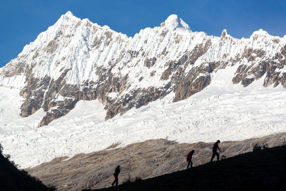 Il trekking Olleros , Chavin , Il sentiero di Olleros-Chavin, Perù , Perù