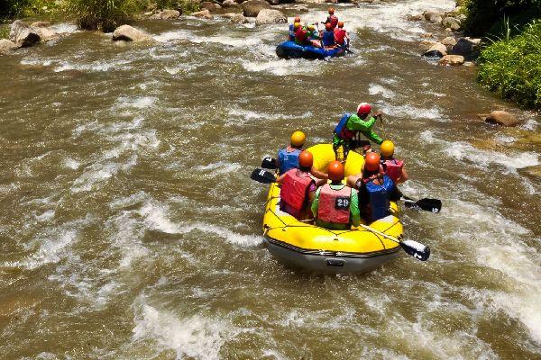 Rafting on the Colca river , Peru