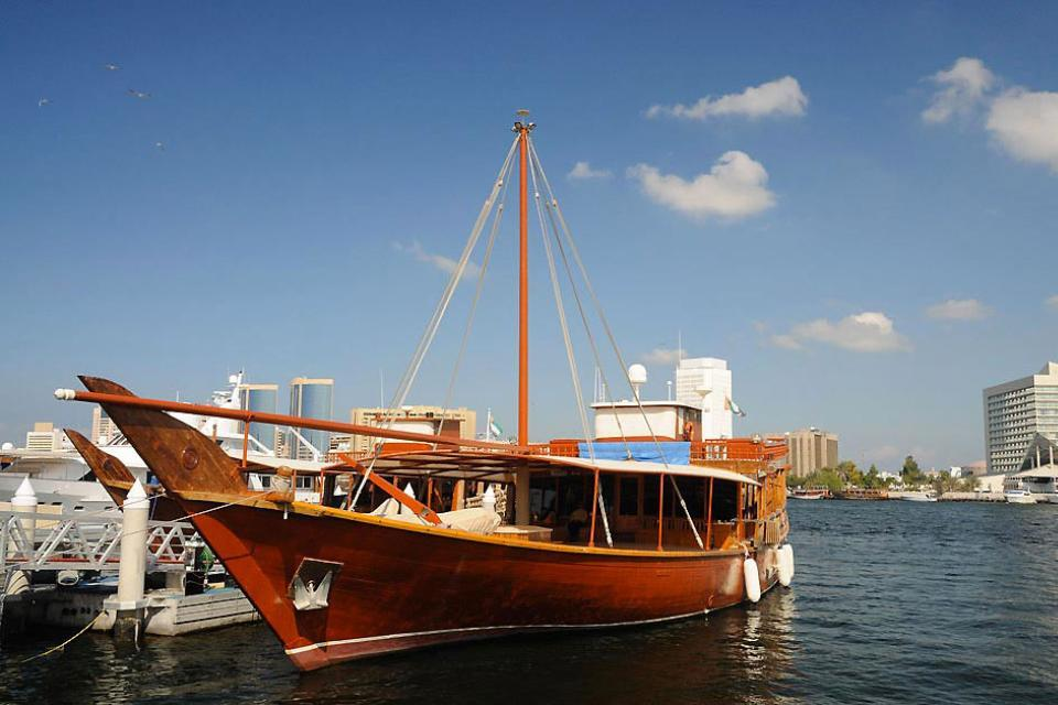 Cruise on the Creek , The Creek and dhows , United Arab Emirates