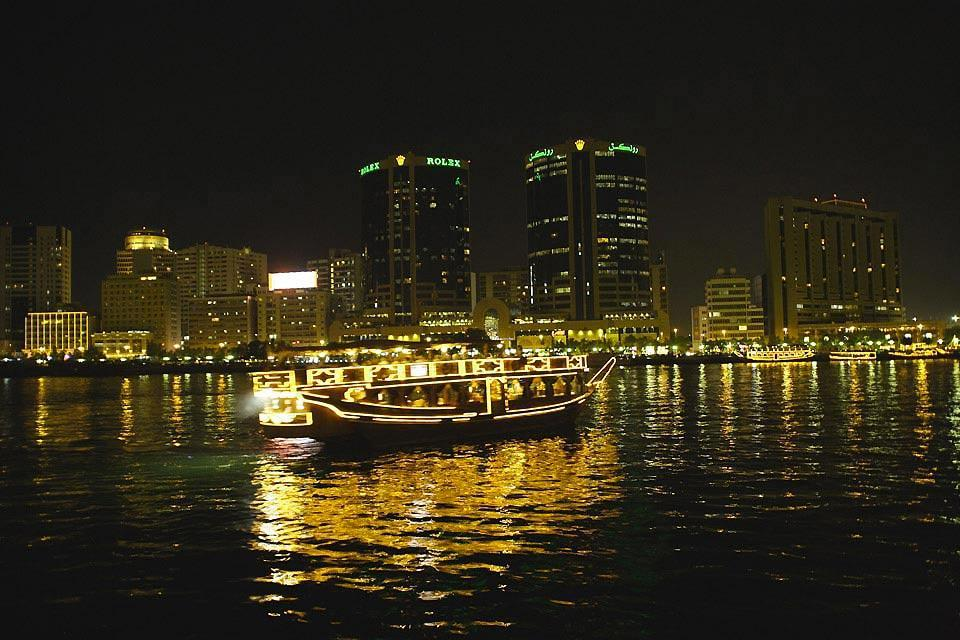 Cruise on the Creek , A night cruise , United Arab Emirates