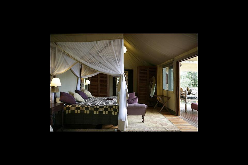 Los hoteles , Las habitaciones del Olonana , Kenia