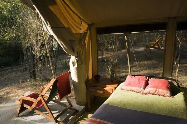 Camping , Inside a luxury tent , Kenya