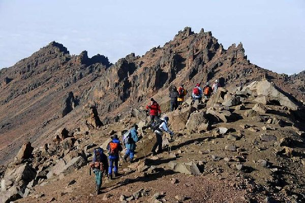 Mount Kenya , Mountaineering in Mount Kenya National Park , Kenya