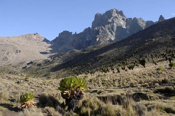 Mount Kenya , Mountainous landscape , Kenya