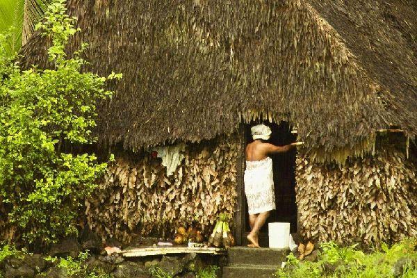 Vanua Levu Island , A traditional dwelling in Fiji , Fiji
