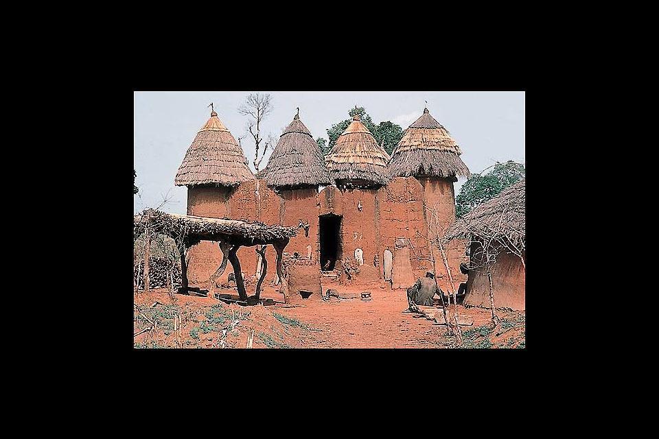 Le pays Somba , Bénin