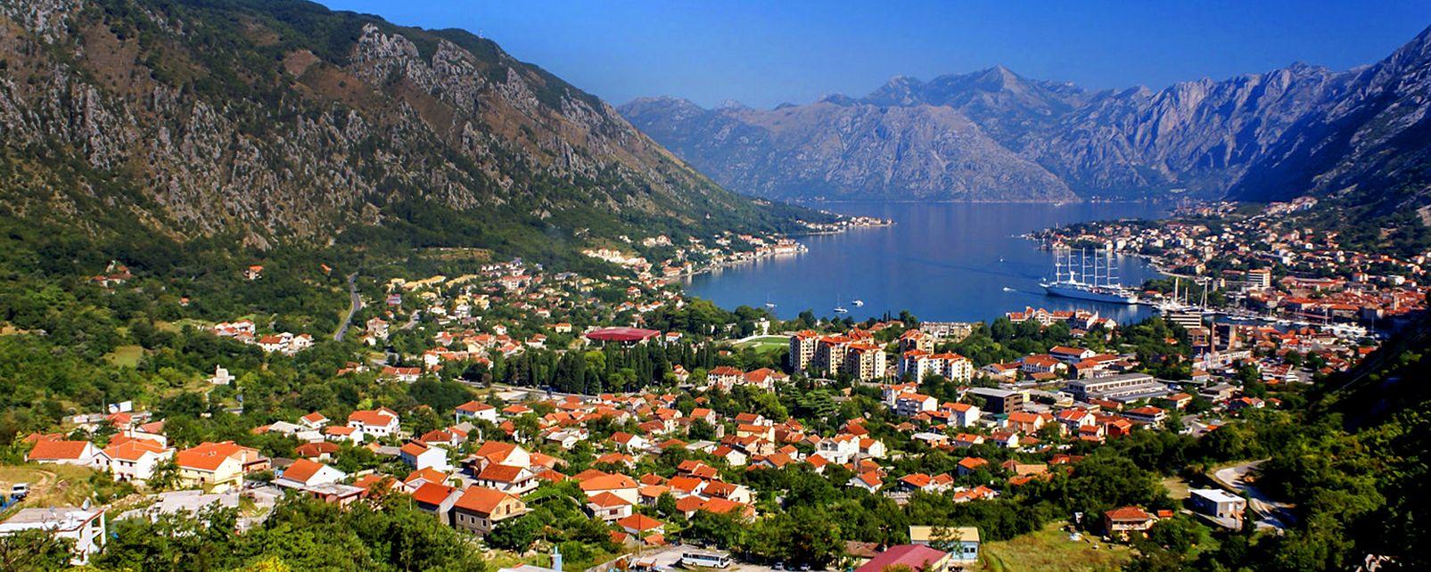 Die Bucht von Kotor , Perast , Montenegro