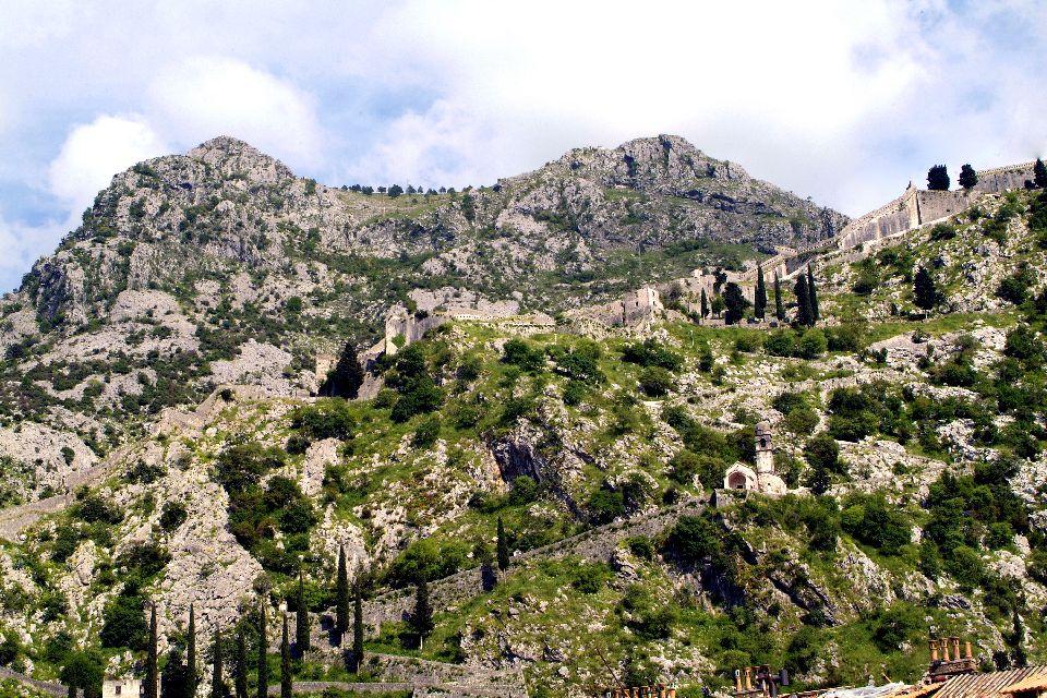 Les bouches de Kotor , La forteresse Saint-Jean , Monténégro