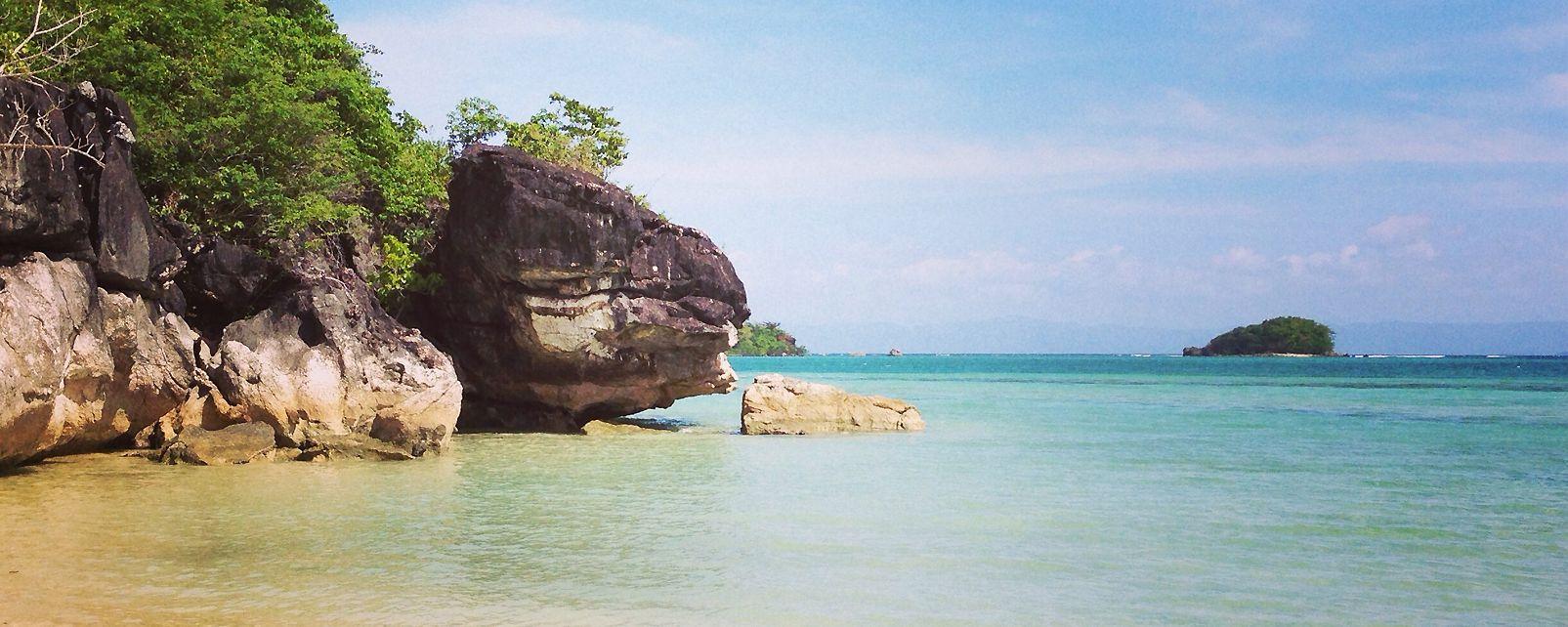 Les îles, caramoan, philippines, îles, asie, plage, mer