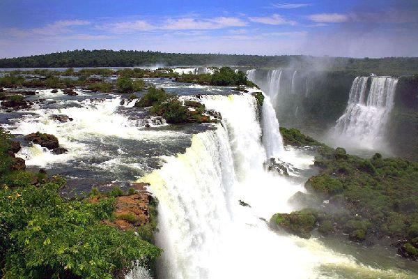 The Iguazu Falls , The Iguazu falls, Brazil , Brazil