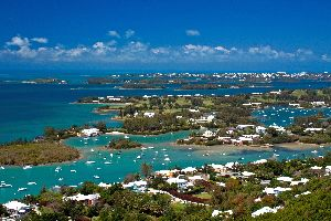 La bahía de Great Sound , Bermudas