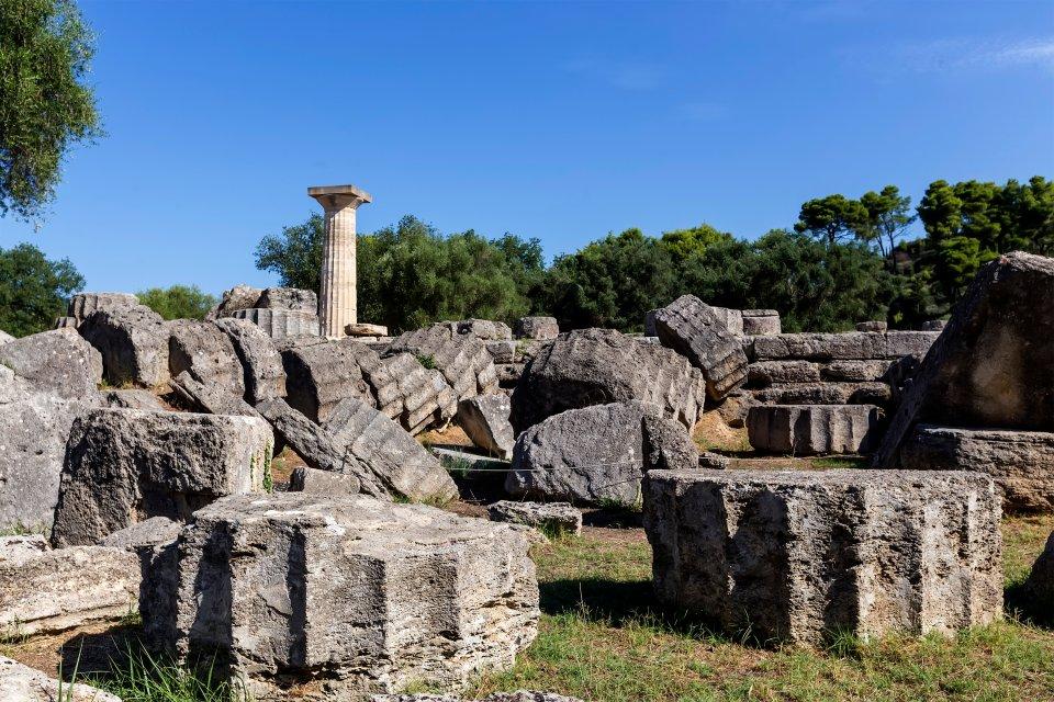 Les ruines d'Olympie, Le site d'Olympie, Les monuments, Péloponnèse