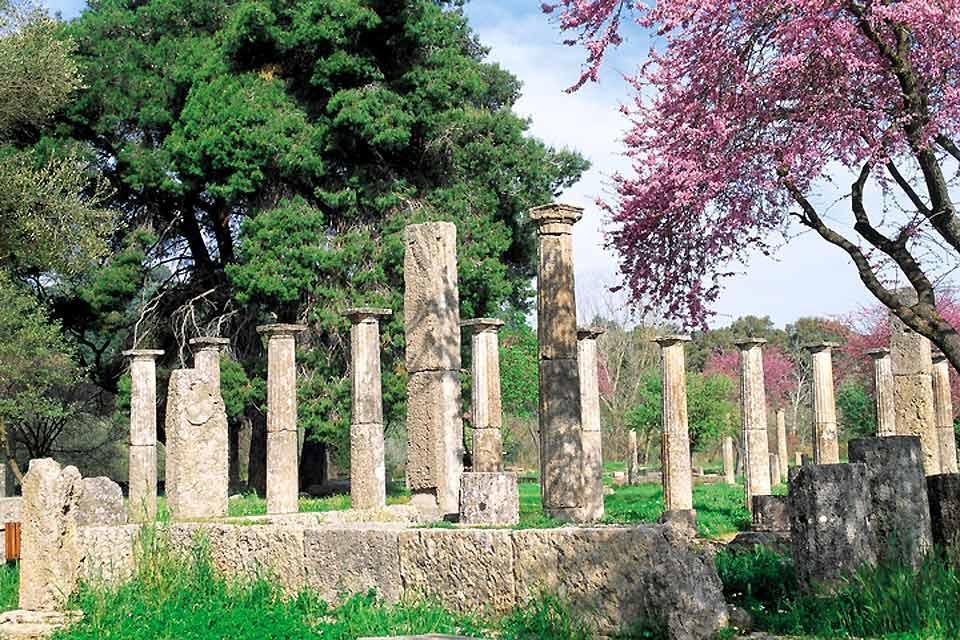 Olympie , Le Sanctuaire d'Olympie , Grèce